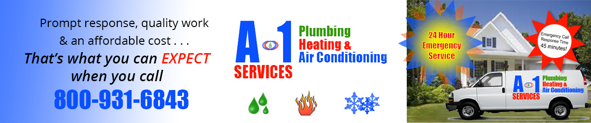 A-1 Plumbing, Heating & Air Conditioning Services Specials